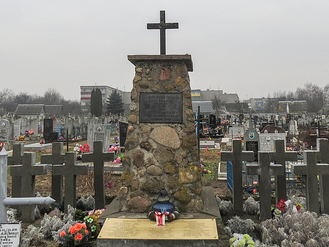 The memorial at the cemetery, Shhuchyn, Hrodna region
