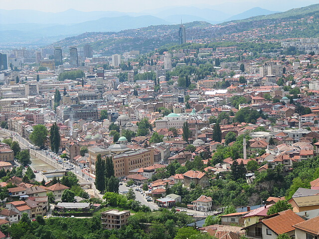 View on the city of Sarajevo